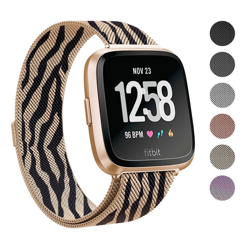 2018 New Fitbit Versa Stainless Steel Magnetic Milanese Replacement Band   5.5