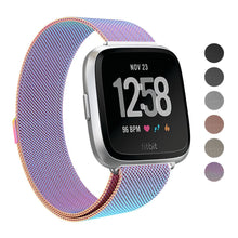 "Fitbit Versa Stainless Steel Magnetic Milanese Replacement Band    5.7"" – 9.2"""