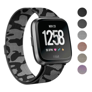 "2018 New Fitbit Versa Stainless Steel Magnetic Milanese Replacement Band   5.7"" – 9.2"""