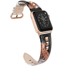 Apple Watch Stunning Studded Rivet Genuine Leather 38mm Bands