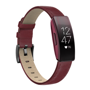 SWEES Leather Band Compatible with Fitbit Inspire HR Bands/Inspire Band, Genuine Leather Strap Replacement with Fitbit Inspire HR/Inspire Women Men