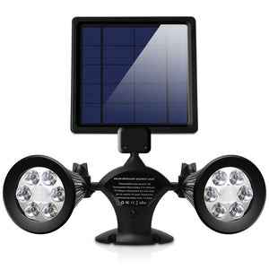 Solar Lights - Adjustable Dual Head Spotlights