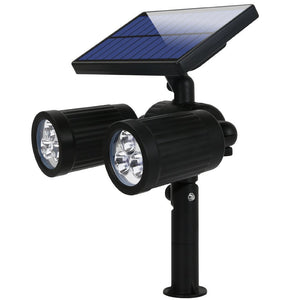 Dual Head Adjustable Solar Wall / In-ground Outdoor Lights
