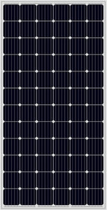 a close up of the black solar panel used in the Solar Pump Install
