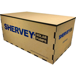 Load image into Gallery viewer, A laser cut custom Shervey wooden box for shipping
