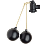 Load image into Gallery viewer, A Double acting floating kit with two dam floats on the end of a stick connected to a valve