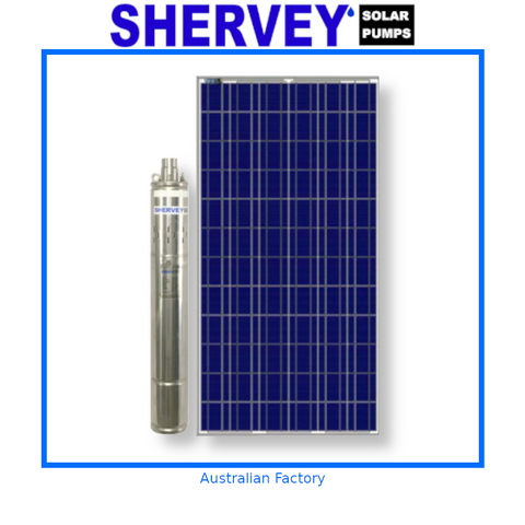 PMP3035 - SHERVEY Solar Water Pump with 300 watt Solar Panel Package (Hobbyfarmer)