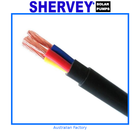 Submersible Pump Cable 3 Core 4mm (10mtr)
