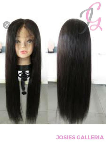 My Odyssey Collection,LLC Straight hair, Lace wig, virgin hair,brazilian hair 14 inches 360 Lace Front Wig 150% Density Straight Brazilian virgin Hair