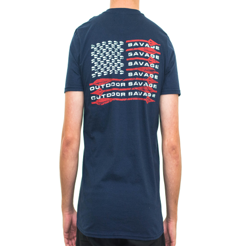 American Flag Shirt W/O Pocket