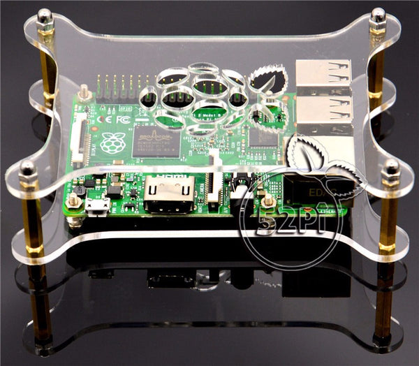 Transparent Acrylic Case Clear Shell Enclosure for Raspberry Pi 3/2 Model B