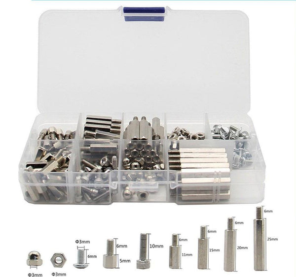 Nickel Plating Brass Spacers Nuts Kit w/ Case