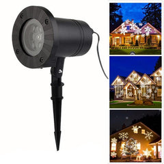 Waterproof Moving Snow Laser Projector Lamp Snowflake