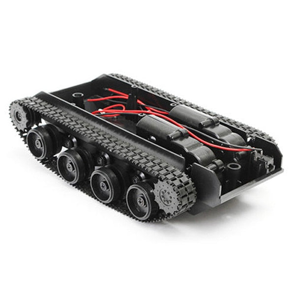 Smart Robot Tank Car Chassis Kit Rubber Track Crawler