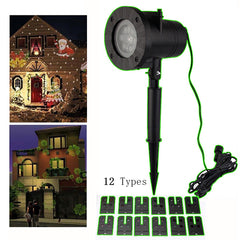 LED Laser Snowflake Projector Outdoor LED Waterproof Disco Lights