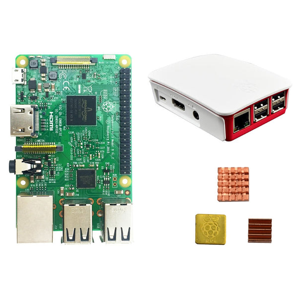 Raspberry Pi 3 Model Case and Heatsinks PI 3 b with Wifi & Bluetooth