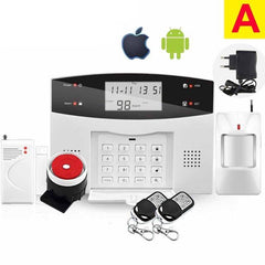 Wireless PSTN GSM Alarm System Door Detector and Infrared Detector, Russian Spanish French, English