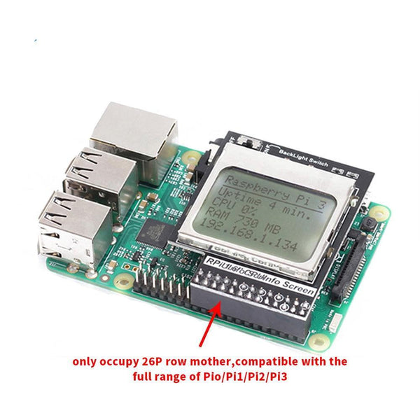Raspberry Pi 3Model B CPU Info LCD Screen with Backlight