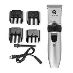 USB Ceramic R-Blade Hair Trimmer Rechargeable Hair Clipper