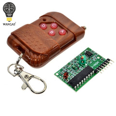 1set IC 2262/2272 4 Channel 315Mhz Key Wireless Remote Control Kits Receiver module For arduino