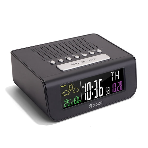 SmartSet Wireless for Digital Alarm Clock Weather Forecast FM Radio Clock