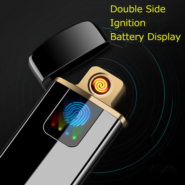 Double Side Ignition USB Electronic Cigarette Lighter