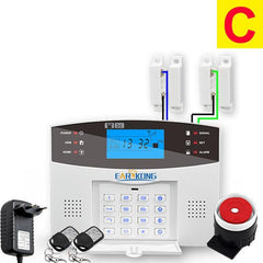 Wired & Wireless GSM Home Burglar Security Alarm System