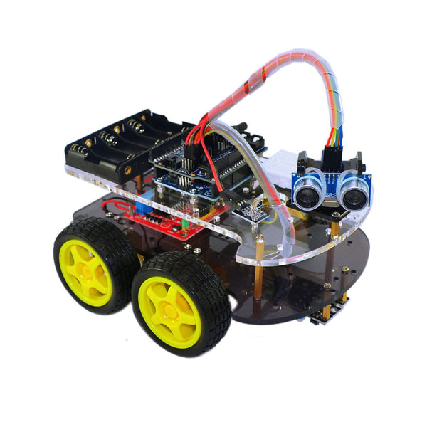 Robotica Educativa Programmable Toy Obstacle Avoidance Anti-drop Smart Car