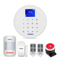 Control GSM WiFi Home Security Alarm System with Wireless Door Window Sensor PIR Motion Detector