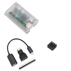 Raspberry Pi Zero  ABS Case with Heat Sink and 3 in 1 Adapter Kit