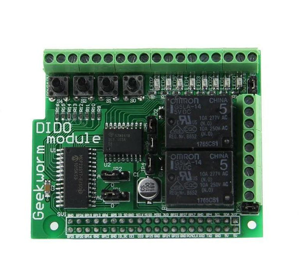 Raspberry Pi 3 Digital Input Output Expansion Board