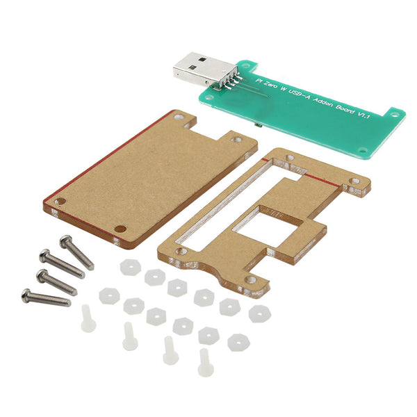 Raspberry Pi Zero USB-A Addon Expansion Board with Transparent Acrylic Case Kit