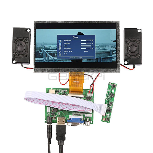 Display Monitor Screen Kit with Amplifier and 2 pcs Speakers