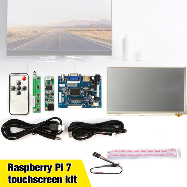 1Set  Raspberry Pi 7 inch LCD Touch Screen Display with USB Cable Line