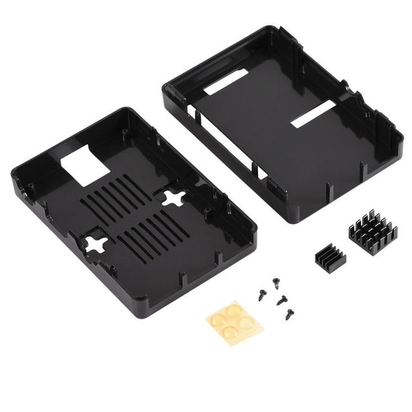Protective Case For Raspberry Pi 3 and 2 B Model B+ with 2Pcs Heat Sink