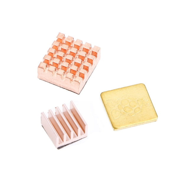 3 Pcs Copper Heat Sink Cooling Kit For Raspberry Pi 3 Model B