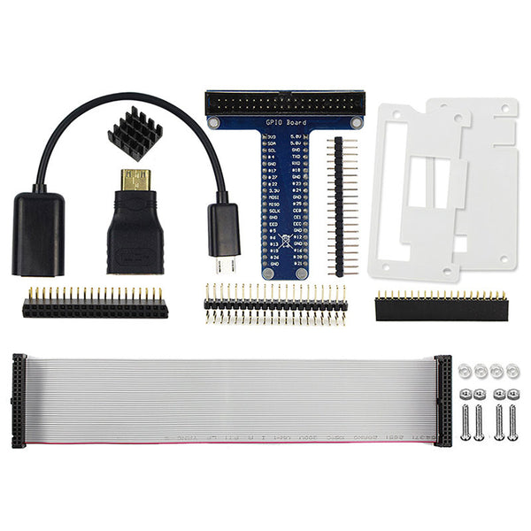 Elecrow Raspberry Pi Zero Starter Kit 8 In 1 USB OTG Host Cable Mini HDMI to HDMI Adapter GPIO Header Acrylic Case