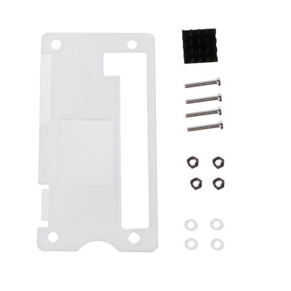 Acrylic Enclosure Case Shell + Aluminum Heat Sink Kit For Raspberry Pi Zero V1.3
