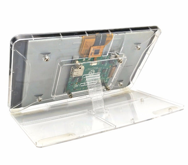 Raspberry Pi  Touchscreen Display Transparent ABS Case With Adjustment Stand