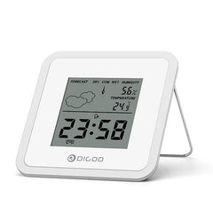 Mini Almighty Weather Station Hygrometer Thermometer Forecast Sensor Alarm Clo-ck