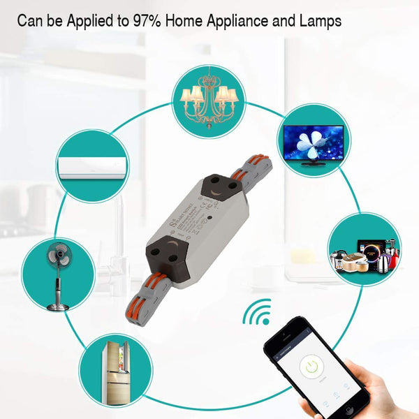 Wifi Smart Switch Remote Wireless Timer Light Smart Home Automation Module Work