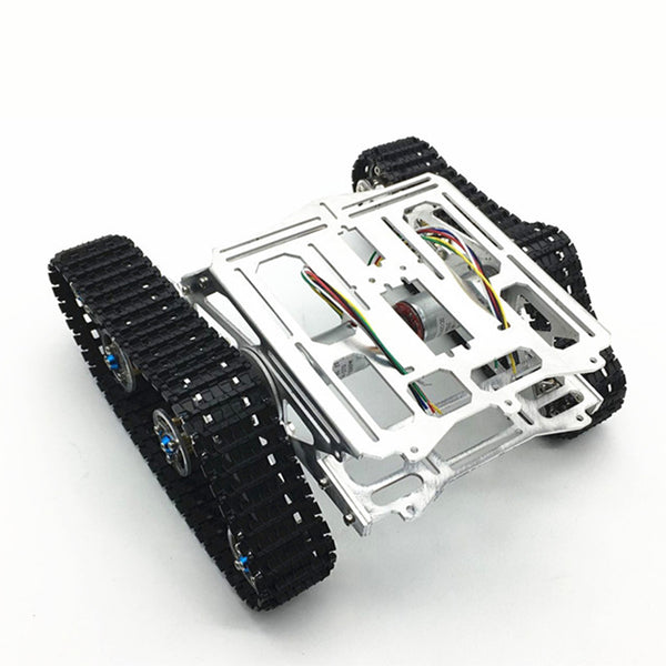 Aluminum Alloy Chassis Intelligence Car Platform with Dual DC Motor