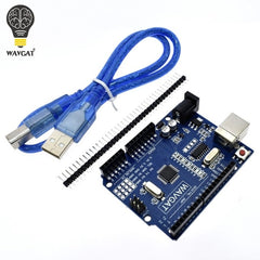 One set UNO R3 (CH340G) MEGA328P for Arduino UNO R3 + USB CABLE ATMEGA328P-AU Development board