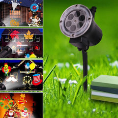 Light LED Garden Projector Christmas Party Festival Home Outdoor Decor