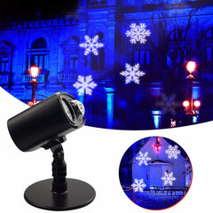 LED Stage Lights Christmas Laser Snowflake Projector