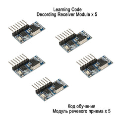 QIACHIP RF Receiver Learning Code Decoder Module 433 mhz Wireless 4 Channel output Diy kit For Remote Control 1527 encoding