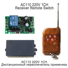 QIACHIP 433Mhz Universal Wireless Remote Control Switch Kit AC 110V 220V 1CH Relay Receiver Module & RF 433 Mhz Remote Controls