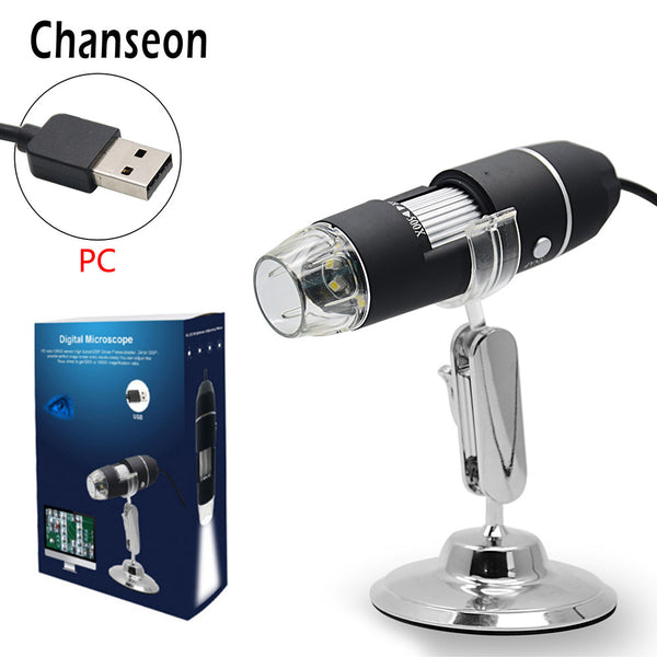 Chanseon 500X 1000X 8 LED Digital Biological Microscope USB Endoscope Camera Microscopio Magnifier stereo Microscope for kids