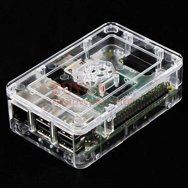 Transparent Original Official Case Box for Raspberry PI 3 model B+plus ABS Plastic Case Box Cover Shell Enclosure Housing