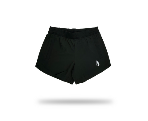 Women's THF Athletic Shorts - Classic Black